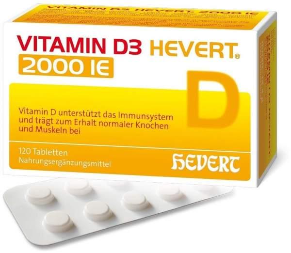 Vitamin D3 Hevert 2.000 I.E. 120 Tabletten