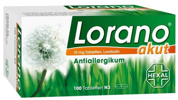 Lorano akut Antiallergikum 100 Tabletten