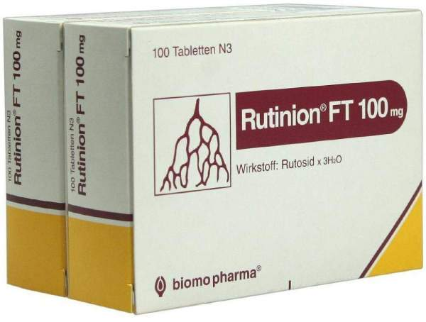Rutinion Ft 100 mg Tabletten 200 Tabletten