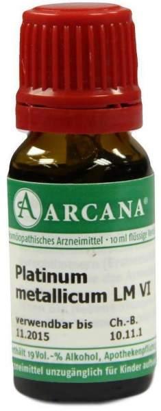 Platinum Metallicum Lm 6 Dilution 10 ml