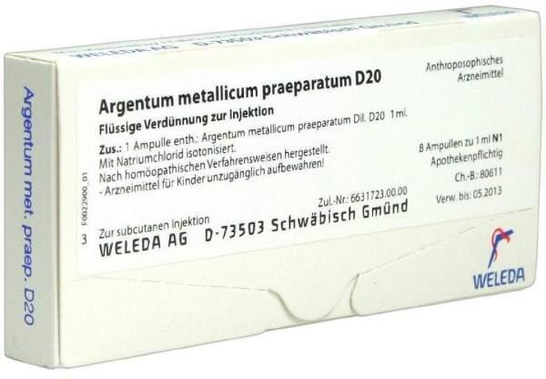Argentum metallicum praeparatum D 20 Weleda 8 Ampullen