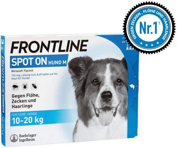 Frontline Spot On Hund M 10 - 20 kg 3 Lösungen