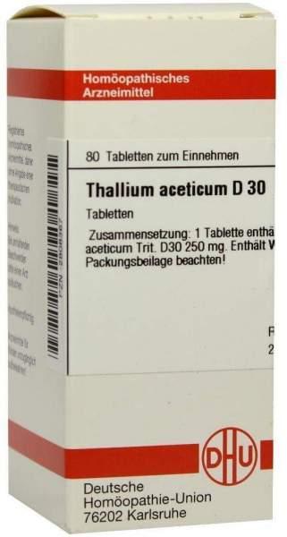 Thallium Aceticum D30 Dhu 80 Tabletten