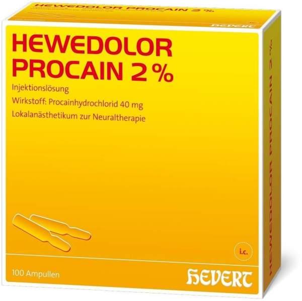 Hewedolor Procain 2% 100 Ampullen