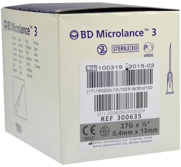 Bd Microlance 3 Sonderkanüle 27 G