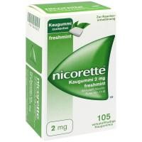 Nicorette 2 mg Freshmint Kaugummi 105 Kaugummis