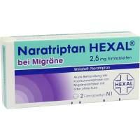 Naratriptan Hexal bei Migräne 2,5 mg 2 Filmtabletten