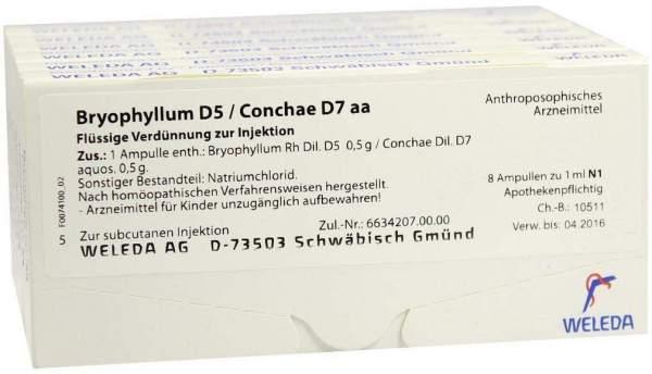 Weleda Bryophyllum D5 Conchae D7 Aa 48 X 1 ml Ampullen