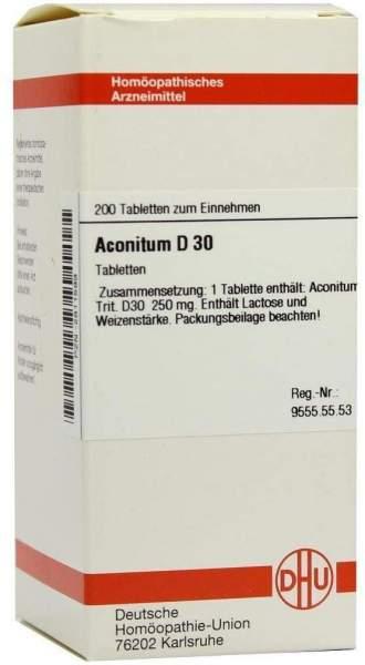 Aconitum D30 200 Tabletten