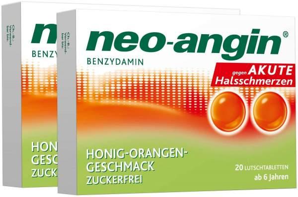 Neo angin Benzydamin Honig-Orange 2 x 20 Lutschtabletten