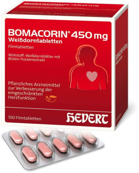Bomacorin 450 mg Weißdorntabletten 100 Stück