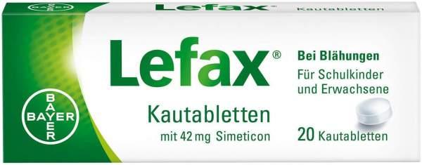 Lefax Kautabletten 20 Kautabletten
