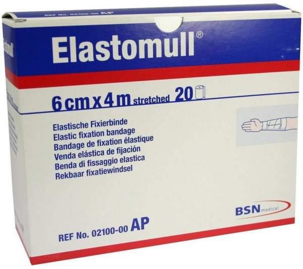 Elastomull 4 M X 6 cm 2100 Elastische Fixierbinden 20 Binden