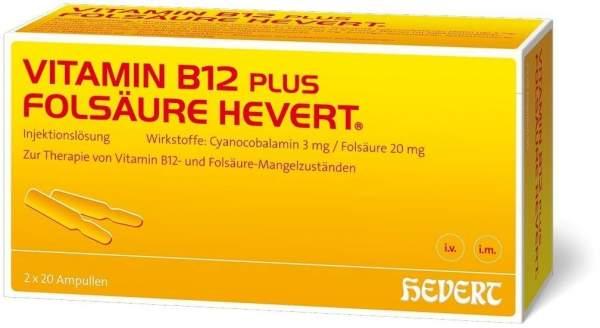 Vitamin B12 Folsäure Hevert 2 X 20 Ampullenpaare