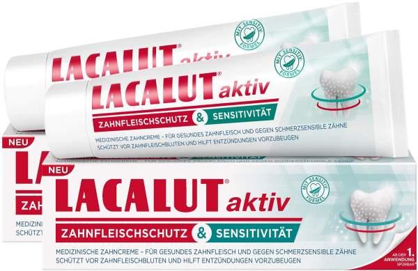 Lacalut aktiv Zahnfleischschutz & Sensitivität 2 x 75 ml Zahncreme