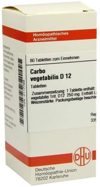 Carbo Vegetabilis D12 80 Tabletten