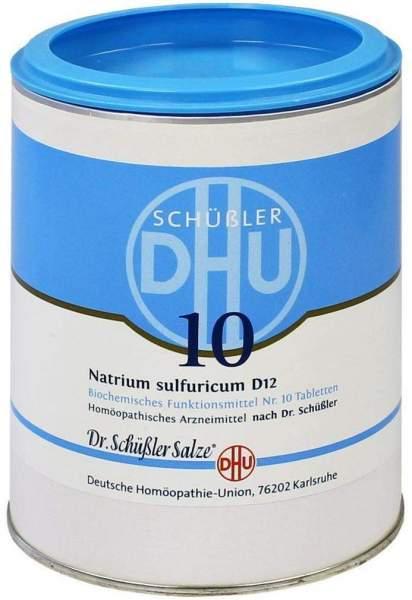 Biochemie Dhu 10 Natrium Sulfuricum D12 1000 Tabletten