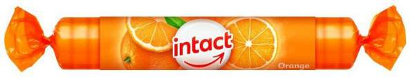 Intact Traubenzucker Orange Rolle 1 Packung