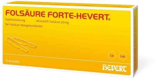 Folsäure Forte Hevert 10 X 2 ml Ampullen