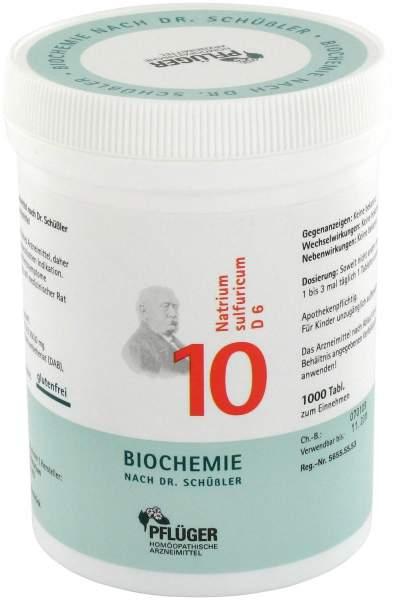Biochemie Pflüger 10 Natrium sulfuricum D6 1000 Tabletten