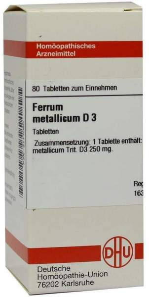 Ferrum Metallicum D 3 80 Tabletten