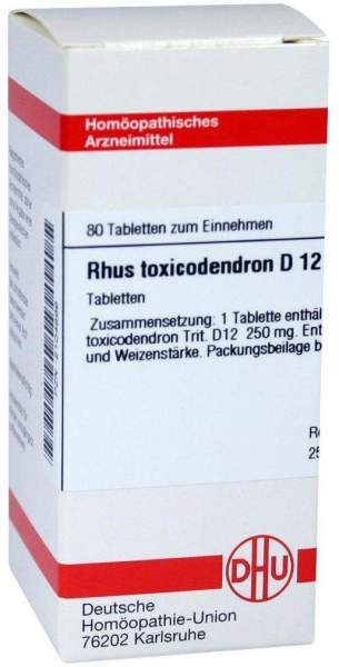 Rhus Toxicodendron D12 Dhu Tabletten 80 Tabletten