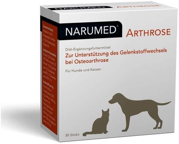 Narumed Arthrose 30 Pulver Sticks für Hunde und Katzen