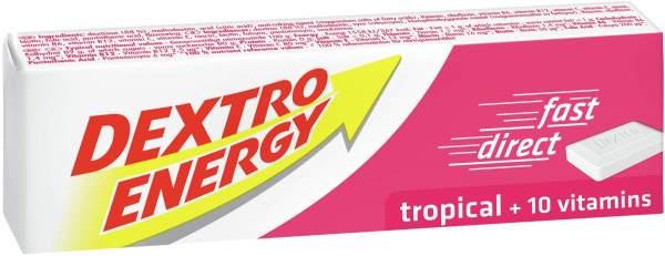 Dextro Energy Tropical Plus 10 Vitamine 1 Würfel