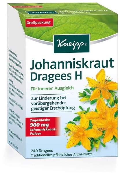 Kneipp Johanniskraut Dragees H 240 Überzogene Tabletten