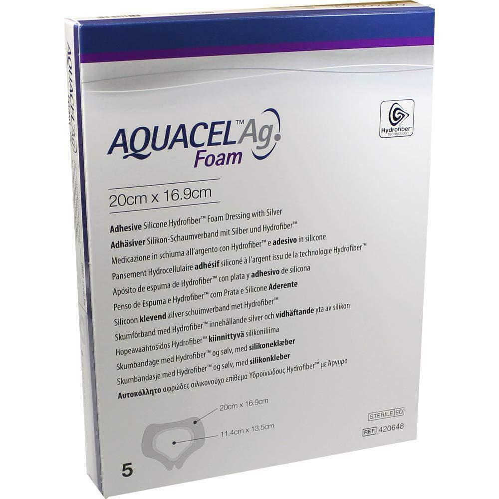 Aquacel AG Foam Adhäsiv Sakral 20x16,9 cm Verba
