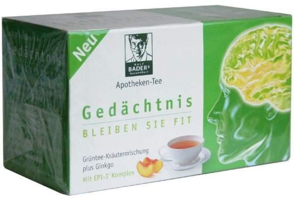 Baders Apotheken Tee Gedaechtnis Filterbeutel