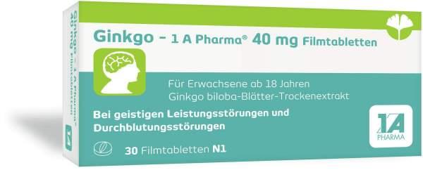 Ginkgo-1a Pharma 40 mg 30 Filmtabletten