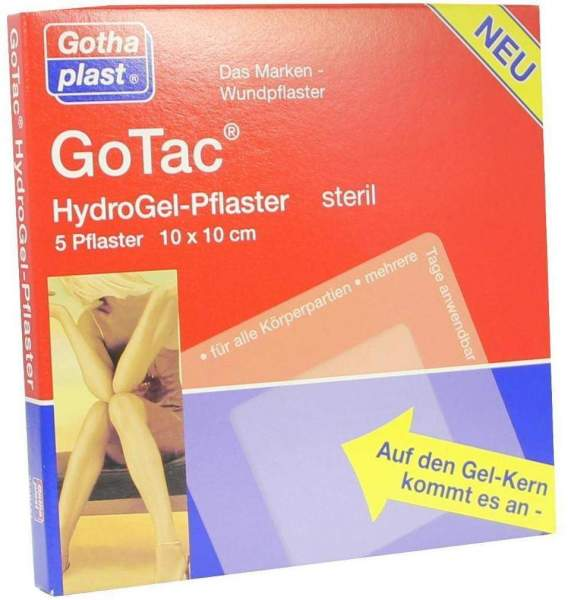 Gotac L Hydrogelpflaster 10x10cm Steril 5 Pflaster