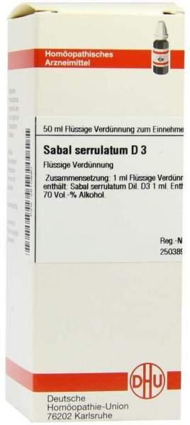 Sabal Serrulatum D 3 Dilution