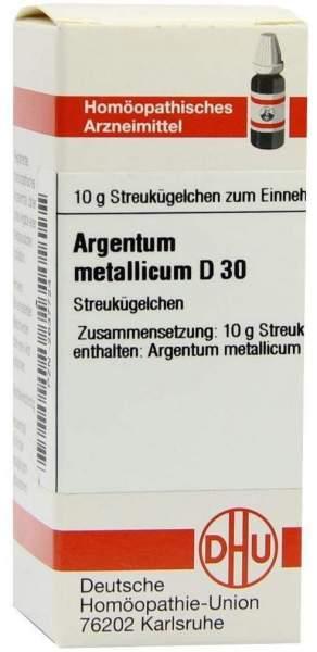 Argentum Metallicum D 30 Globuli