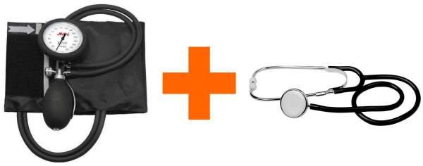Aneroid Blutdruckmessgerät mit Stethoskop