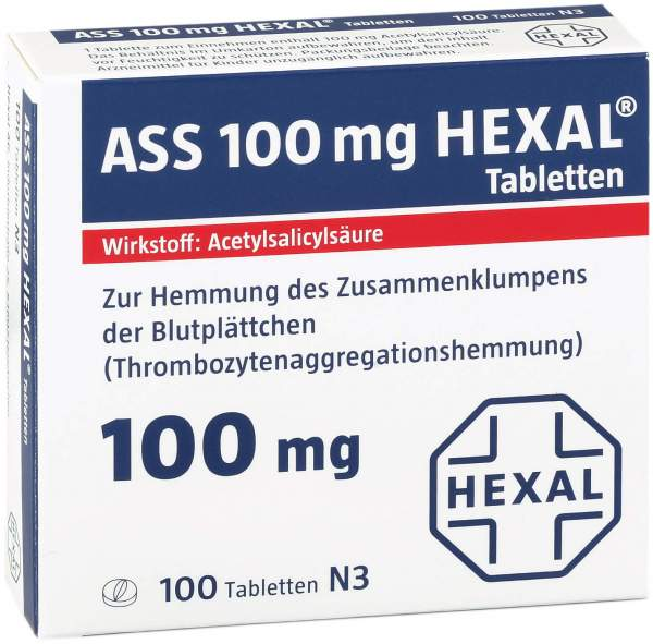 ASS 100 mg Hexal 100 Tabletten