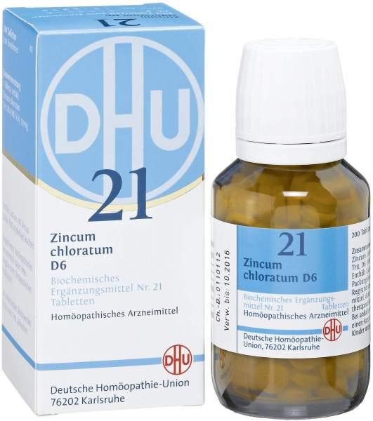 Biochemie DHU 21 Zincum chloratum D6 200 Tabletten