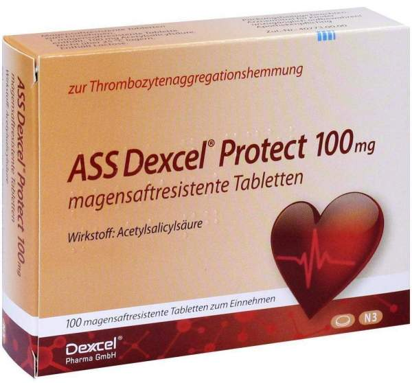 Ass Dexcel Protect 100 mg 100 Magensaftresistente Tabletten