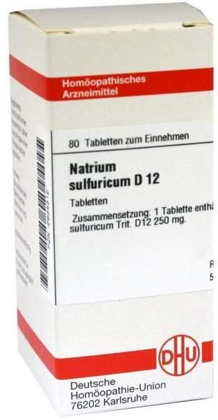 Natrium Sulfuricum D 12 80 Tabletten