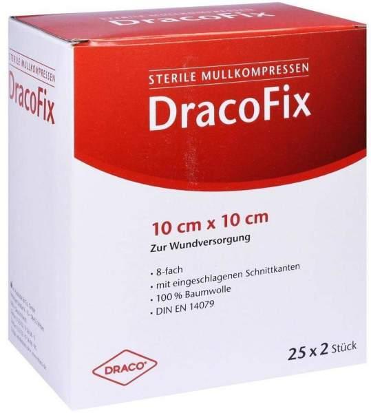 Dracofix Peel Kompressen Steril 10x10cm 8fach 25x2 Kompressen
