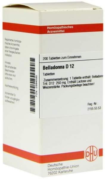 Belladonna D 12 200 Tabletten