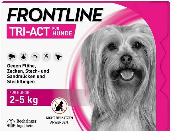 Frontline TRI-ACT Hund 2-5 kg 3 Pipetten