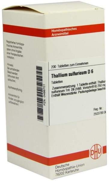 Dhu Thallium Sulfuricum D6 200 Tabletten