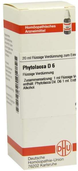 Dhu Phytolacca D6 20 ml Dilution