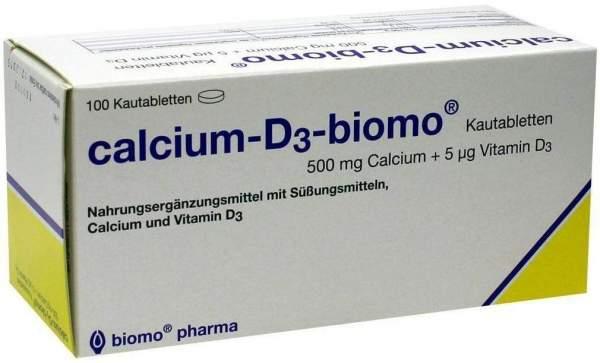 Calcium D3 Biomo Kautabletten 500 mg + Vitamin D 100 Kautabletten