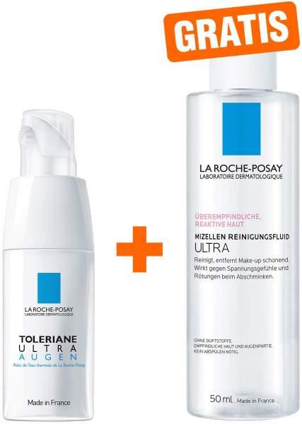 La Roche Posay Toleriane Ultra Augen Creme 20 ml + gratis Reinigung Reactive Mizellen 50 ml