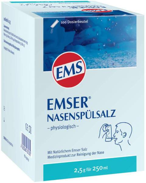 Emser Nasenspülsalz physiologisch 100 Beutel Pulver