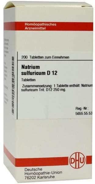 Natrium Sulfuricum D 12 200 Tabletten