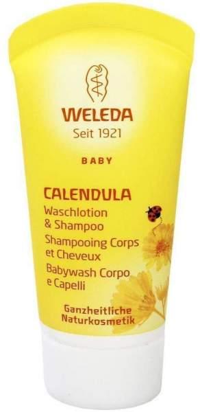 Weleda Calendula Waschlotion und Shampoo Baby und Kind 20 ml
